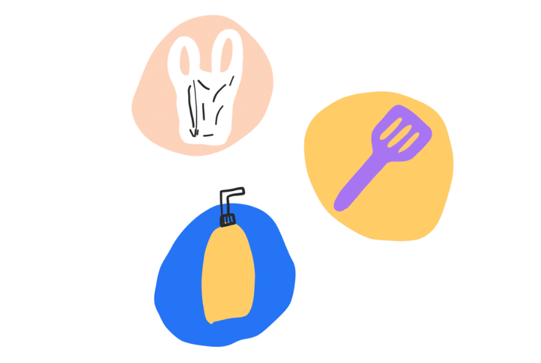 illustrations : My Little Plastic Footprint app