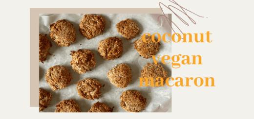 coconut vegan macaron recipe